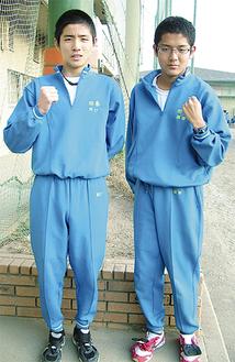 2区を走る予定の川口賢人選手(左)と6区の徳田亮太選手