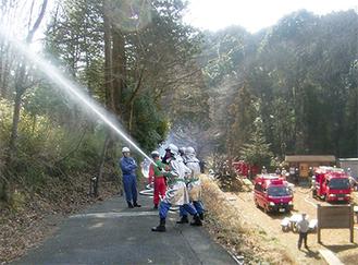 消防署と団との合同訓練を実施