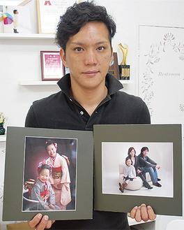 上位入選した2つの写真と中野さん