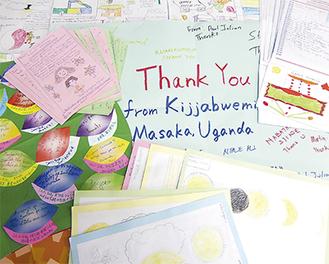 イラストや感謝のことばが綴られた手紙