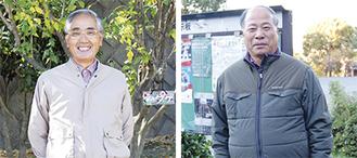受賞を喜ぶ井上正和会長(左)と井上敏正会長