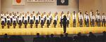 50周年を記念して結成した「桐蔭学園混声合唱部」が、学園歌を合唱
