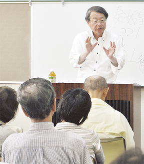 これまでの「木簡」研究について語る李教授