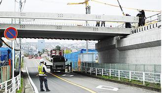 建設が進められる北西線橋梁