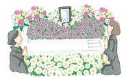 花いっぱいの葬儀