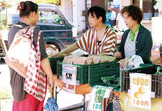 野菜販売を行う地元農家