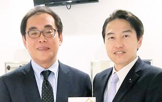 片田敏孝・東大院特任教授(左)と
