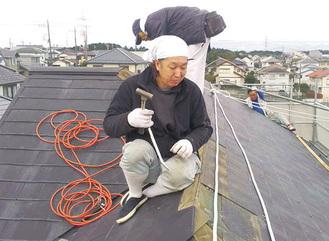 「屋根の検査もお任せください」