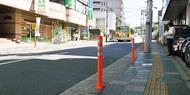 歩道上に違法駐車対策