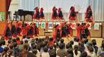 ソーラン節を踊る5・6年生