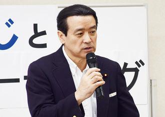カジノ誘致問題について語る江田議員