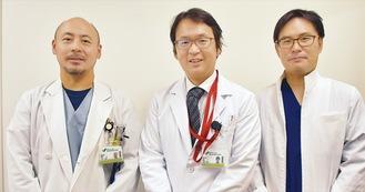 左から川村副部長、上野部長、安原医師