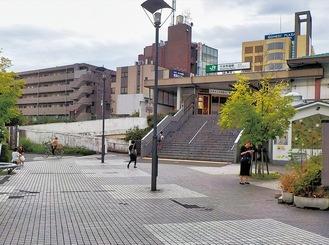 工事前の北口駅前(緑土木事務所提供)