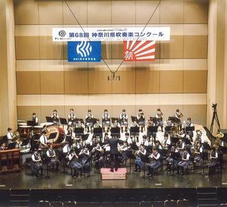 昨年の神奈川県吹奏楽コンクールのようす