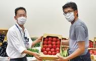 医療従事者へ野菜で感謝