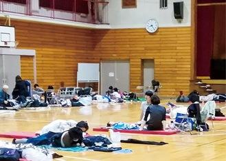 台風19号時の指定緊急避難場所(区提供)