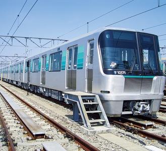 グリーンライン車両(市交通局提供)