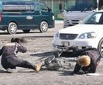自転車と歩行者の接触事故