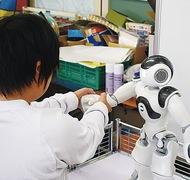 ロボットに生徒が質問