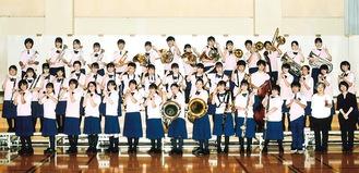 全国に出場する田奈中学校吹奏楽部