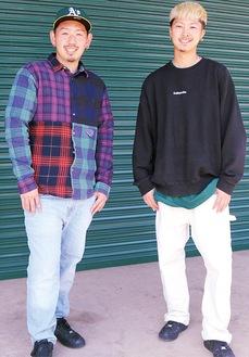 優勝を果たした小島さん(左)と宮里さん