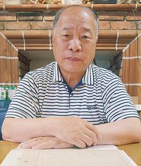 岩川堰について語る井上会長