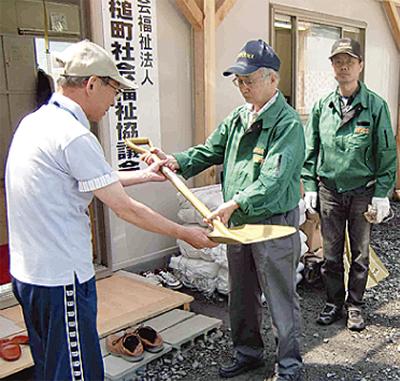 被災地に支援物資