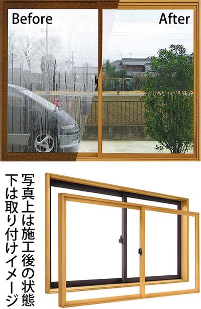 結露対策は二重窓で簡単に