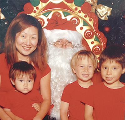 サンタクロースと記念撮影