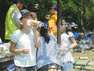 子どもたち「夏の森」楽しむ