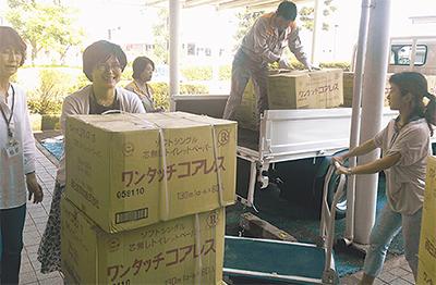 福祉施設に物品寄付