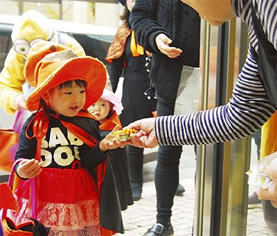 ハロウィーン仮装で街歩き