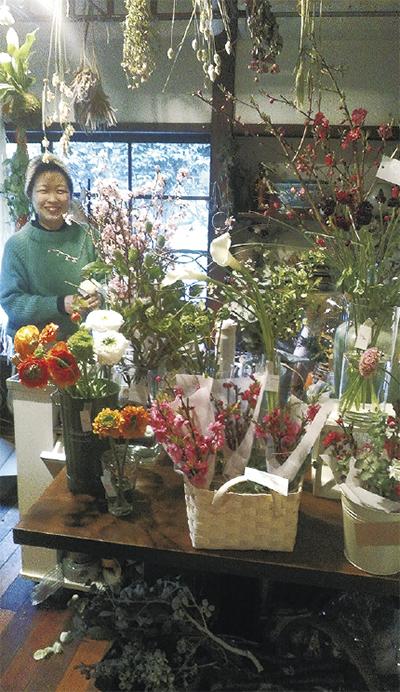 「心和む、中山の花屋さんに」