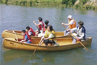 鶴見川で水に親しもう