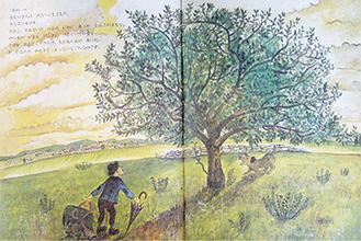 植垣さんの手がけた絵本『おじいさんのいえ』の1ページ