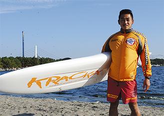 綱島のスイミングクラブで泳力を身につけた落合さん