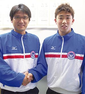 日本のトップと戦える実感を得た工藤さん(右)と黒瀬コーチ