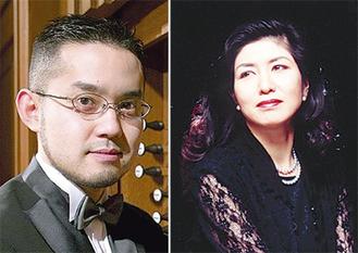 奏者の近藤岳さん(左)と松居直美さん