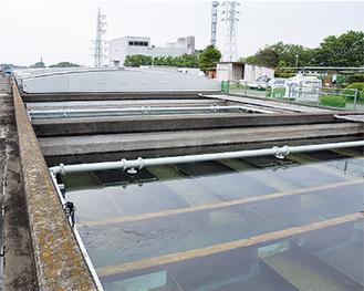 市内最大の処理能力をもつ小雀浄水場(戸塚区)