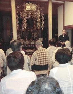 多田副住職から寺院の歴史が語られた