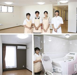明るく清潔な施設内。個室と特別仕様のバスルームも設置される