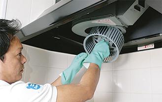 換気扇は分解洗浄で吸い込みが良くなり静音効果も