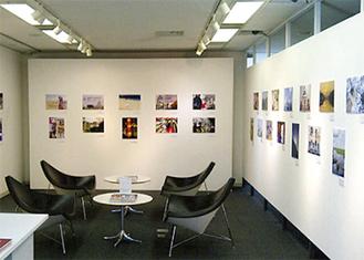 展示ギャラリーに並ぶ作品