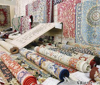 様々な生活を彩る「手織絨毯」が展示される※10時〜20時(31日は10時半〜19時)
