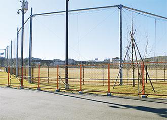 利用開始を待つ球技場