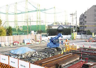 新駅整備工事の現場