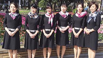 横浜スカーフ親善大使が登場する