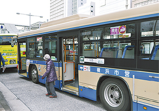 新横浜駅に乗り入れる41系の市営バス