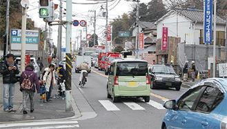 現在の綱島街道