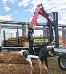 トラック積載型のため、現場に到着後、速やかに作業ができるクレーン
